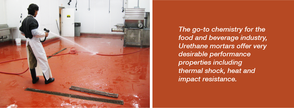 An easily cleanable and seamless floor is important to inhibit the growth of bacteria